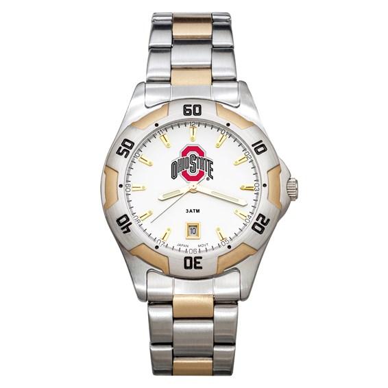 Ohio State University All-Pro Men's Two-Tone Watch