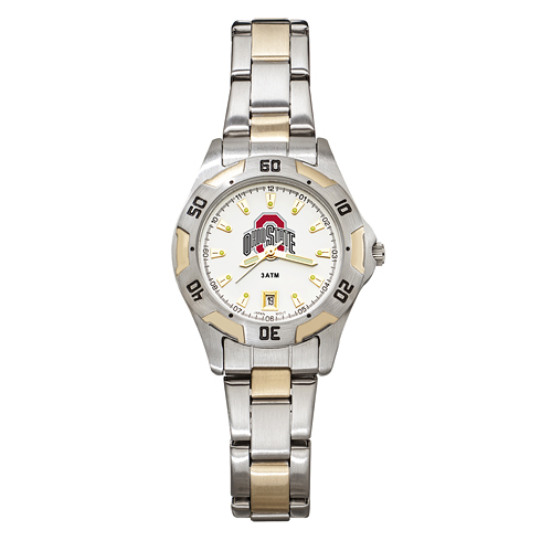 Ohio State University Women's All-Pro Two Tone Watch