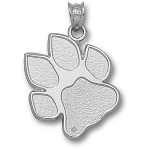 Ohio Bobcats 3/4in Sterling Silver Paw Pendant