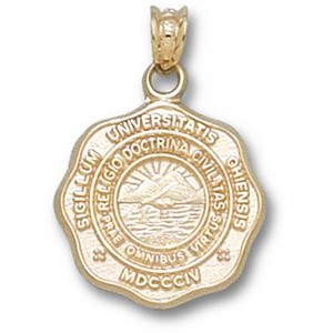 14kt Yellow Gold 5/8in Ohio University Seal Pendant