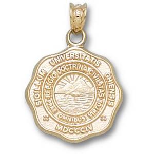 14kt Yellow Gold 5/8in Ohio University Seal Pendant