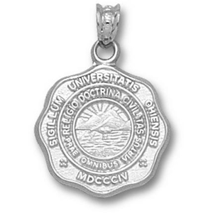 Sterling Silver 5/8in Ohio University Seal Pendant