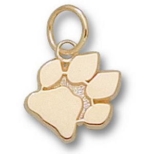 10kt Yellow Gold 3/8in University of Ohio Paw Charm