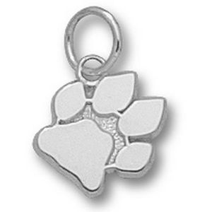 Sterling Silver 3/8in University of Ohio Paw Charm