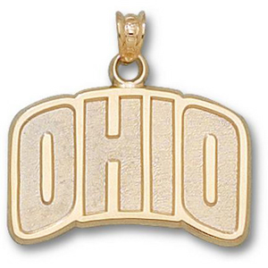 10kt Yellow Gold 5/8in Ohio Pendant