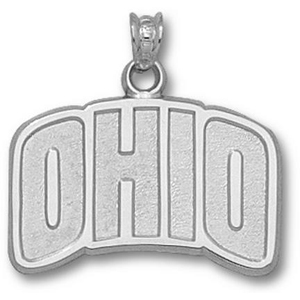 Sterling Silver 5/8in Ohio Pendant