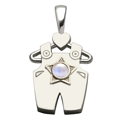 Sterling Silver Boy All Star Pearl Pendant