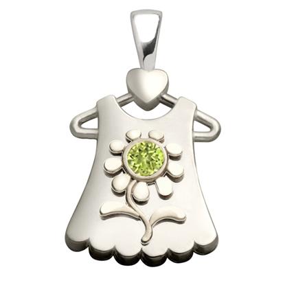 Sterling Silver Blossom Peridot Pendant
