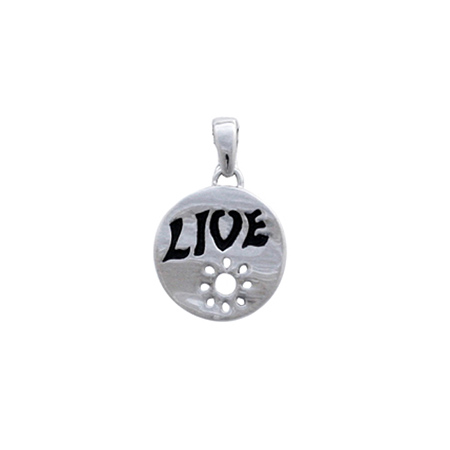 Sterling Silver Circle Live Pendant