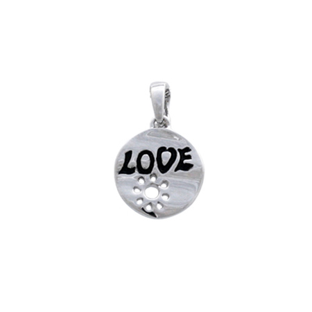 Sterling Silver Circle Love Pendant