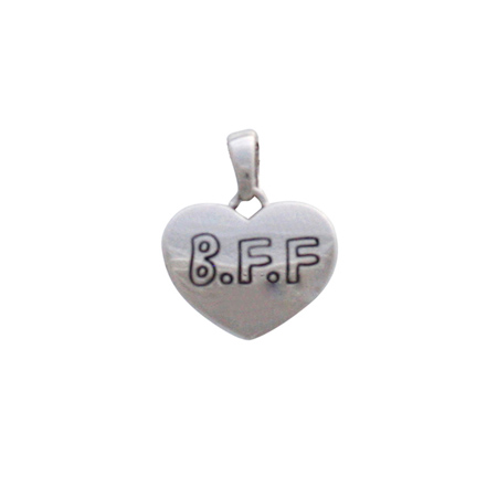 Sterling Silver BFF Heart Pendant