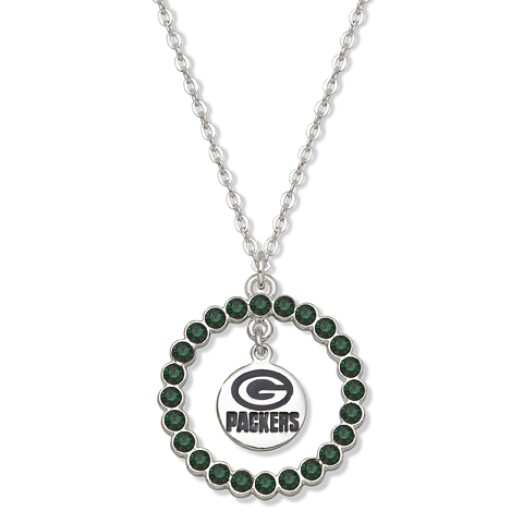Green Bay Packers Spirit Crystal Logo Necklace
