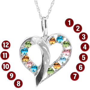 Passion Hearts Mother's Pendant Sterling Silver