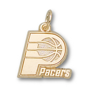 10kt Yellow Gold 3/8in Indiana Pacers Logo Pendant