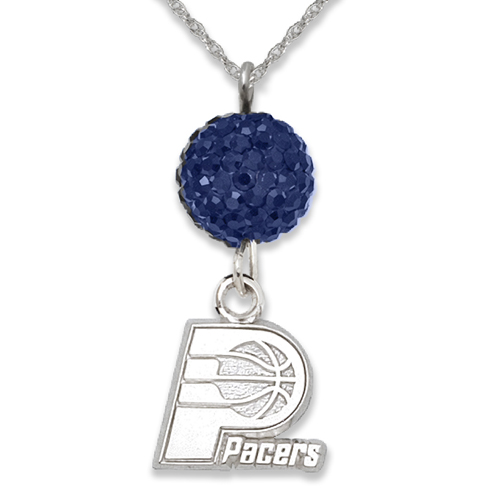 Sterling Silver Indiana Pacers Ovation Necklace