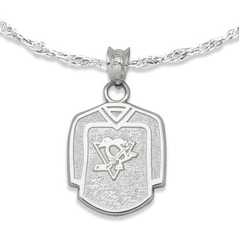 Pittsburgh Penguins 5/8in Jersey on Chain Sterling Silver