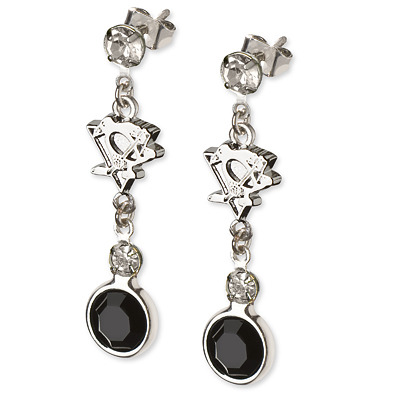 Pittsburgh Penguins Crystal Logo Earrings