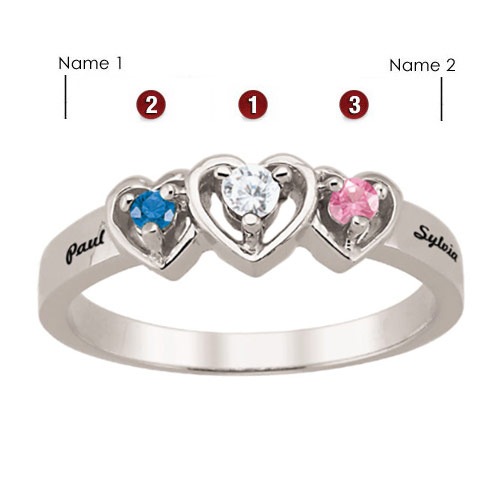 Sterling Silver Mine Yours Ours Promise Ring