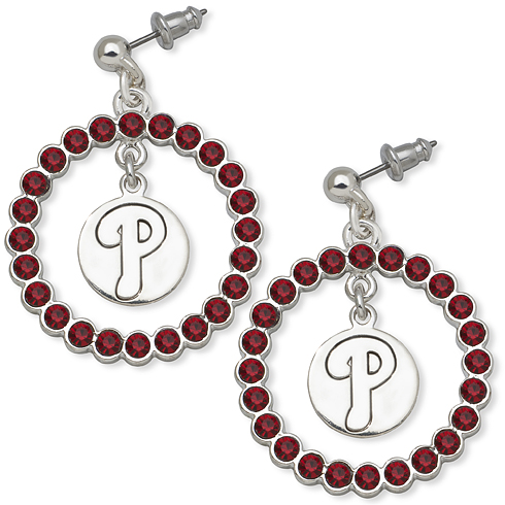 Philadelphia Phillies Spirit Crystal Logo Earrings
