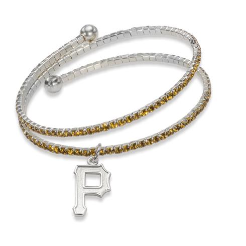 Pittsburgh Pirates Amped Logo Crystal Bracelet