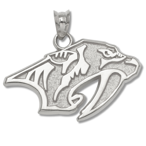 Nashville Predators 5/8in Pendant Sterling Silver