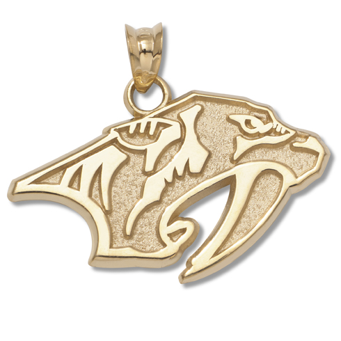 Nashville Predators 5/8in Pendant 14kt Yellow Gold
