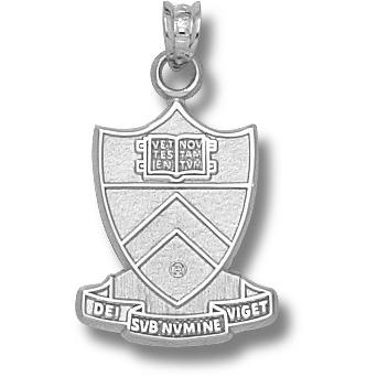 Princeton 3/4in Shield Pendant Sterling Silver