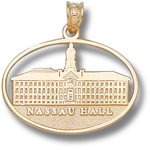 Princeton 5/8in Nassau Hall 10kt Yellow Gold