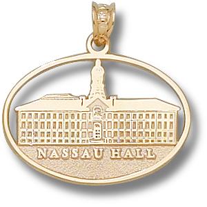 Princeton 5/8in Nassau Hall 10kt Yellow Gold