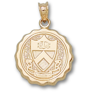 Princeton 5/8in Seal Pendant 14kt Yellow Gold