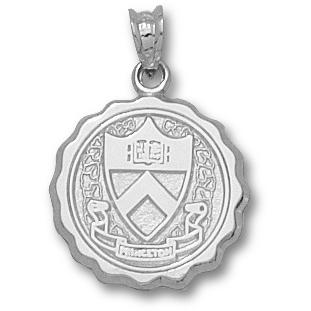 Sterling Silver 5/8in Princeton University Seal Pendant