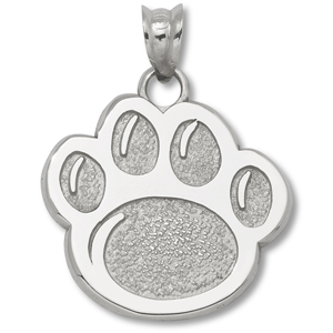 Sterling Silver 5/8in Penn State Paw Pendant