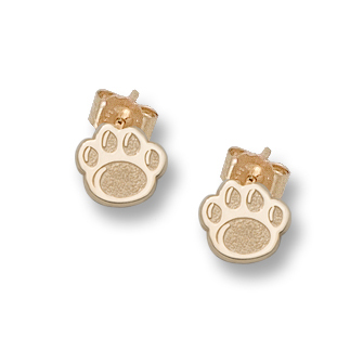 Penn State Post Earrings 14kt Yellow Gold