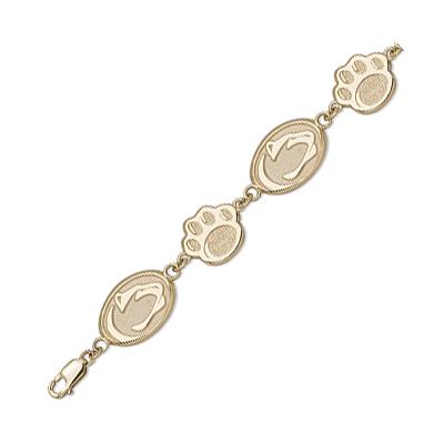 10kt Yellow Gold 7 1/2in Penn State University Bracelet