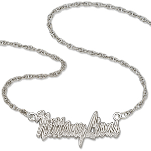 Sterling Silver 18in Nittany Lions Script Necklace