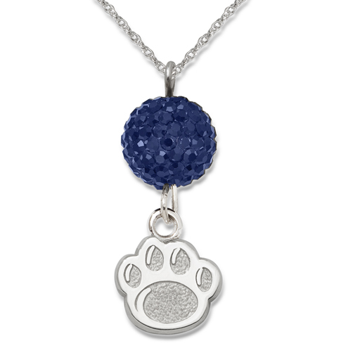 Sterling Silver Penn State Crystal Ovation Necklace