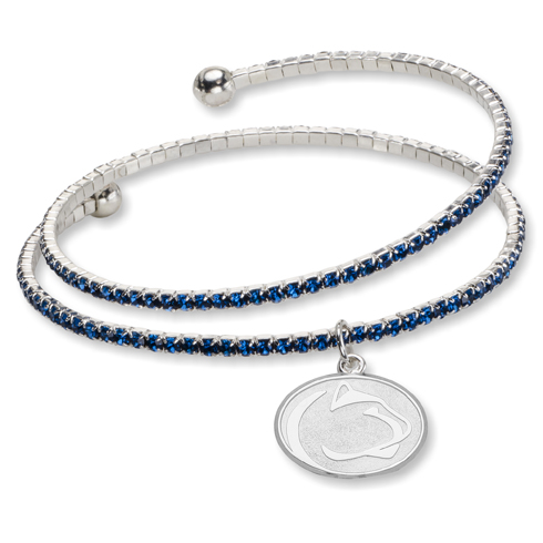 Penn State University Amped Logo Crystal Bracelet
