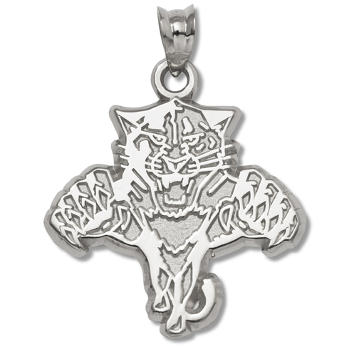 Florida Panthers 5/8in Pendant Sterling Silver