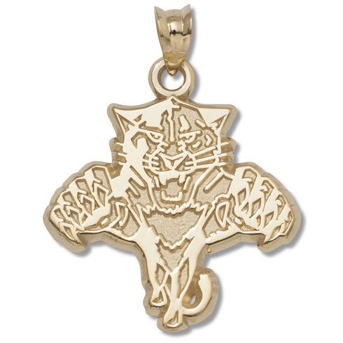 Florida Panthers 5/8in Pendant 10kt Yellow Gold