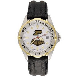 Purdue Boilermakers Mens All Star Leather Watch