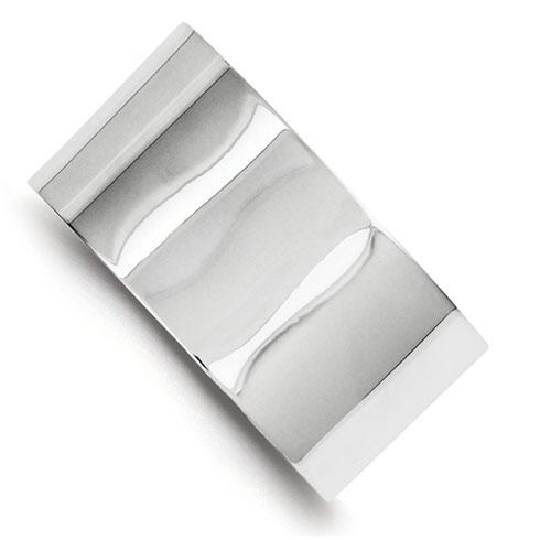 Sterling Silver 30mm Italian Cuff Bangle Bracelet