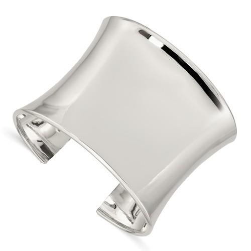 Sterling Silver 50mm Cuff Bangle Bracelet