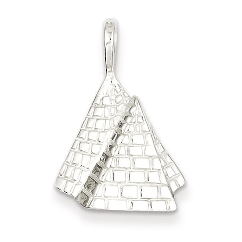 Sterling Silver Pyramids Pendant