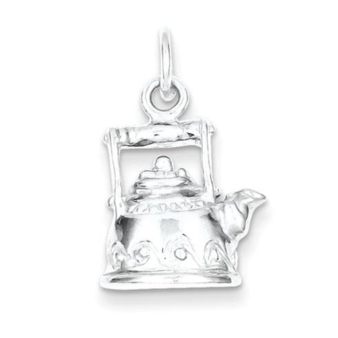 Sterling Silver Tea Kettle Charm
