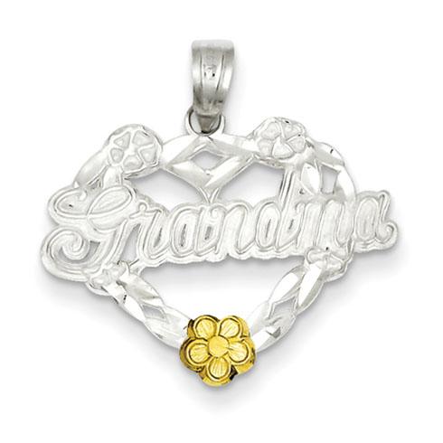 Sterling Silver Grandma Heart Charm
