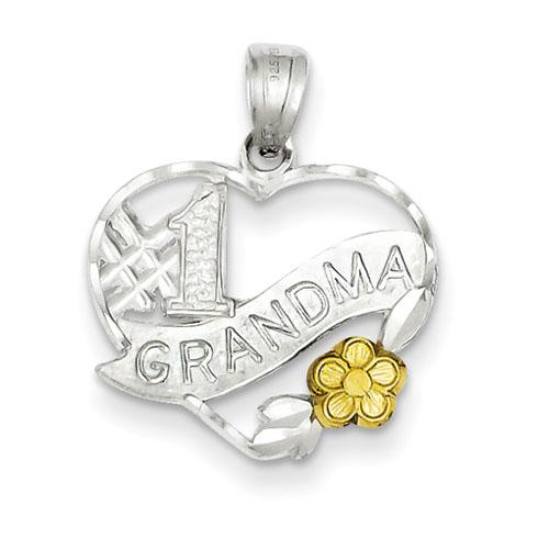 Sterling Silver #1 Grandma Charm