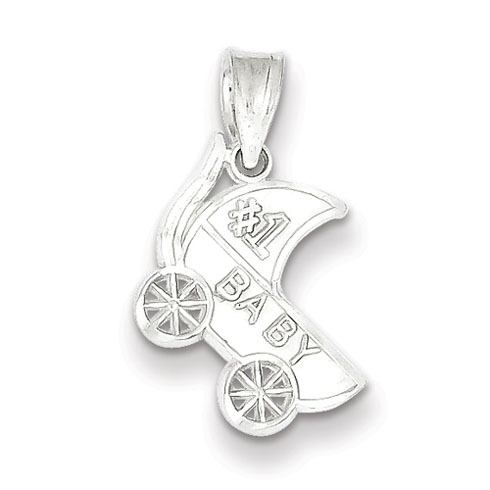 Sterling Silver #1 Baby Charm