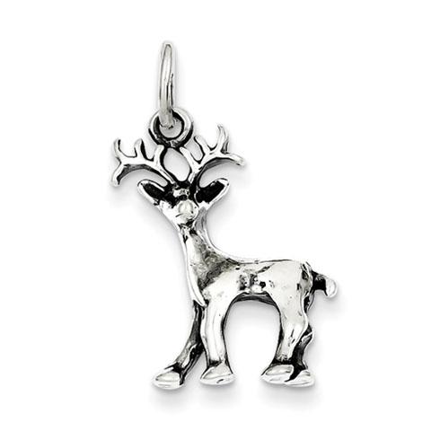 Sterling Silver 3/4in Deer Charm