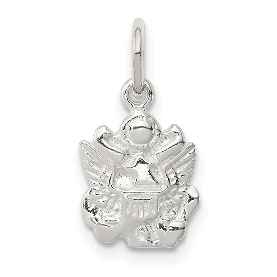 Sterling Silver 3/8in U.S. Army Eagle Charm