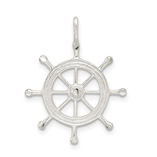 Sterling Silver Boat Wheel Charm
